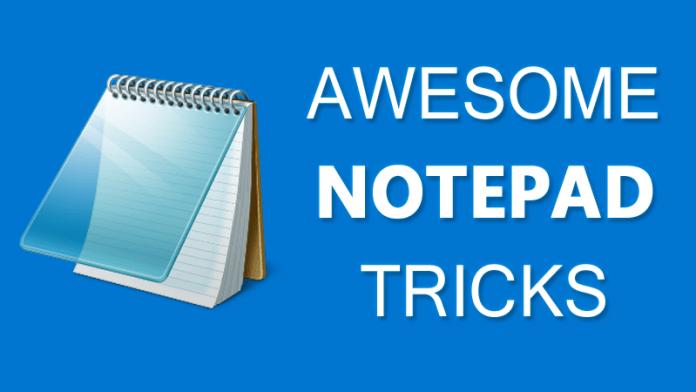 Notepad virus tricks