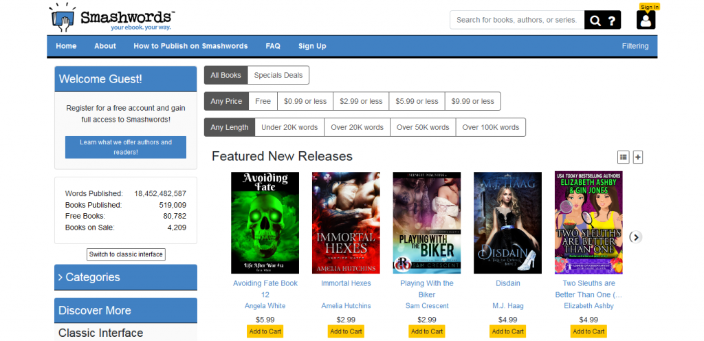Smashwords  : book torrent