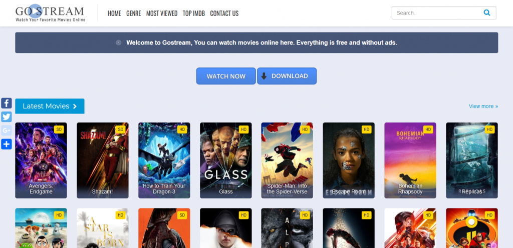 Go Stream - movie streaming site