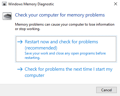Windows Memory Diagnostic