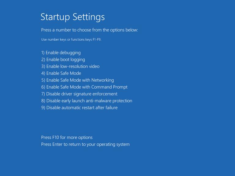 Start Up Settings