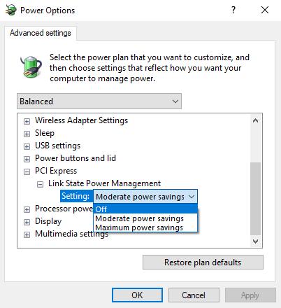 Tweak Power Management Settings