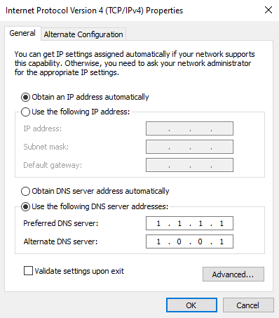 Change DNS Protocol Settings
