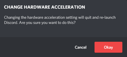 Deactivate Hardware Acceleration