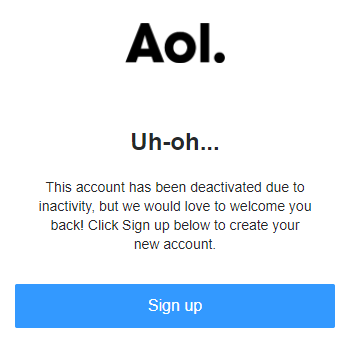 Account is Deactivated