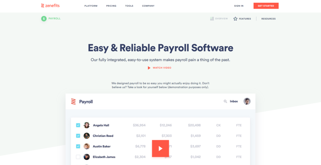 Zenefits Payroll