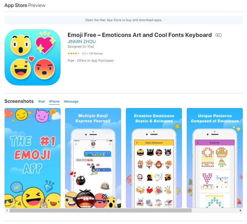 Emoji Free - Emoticons Art and Cool Fonts Keyboard