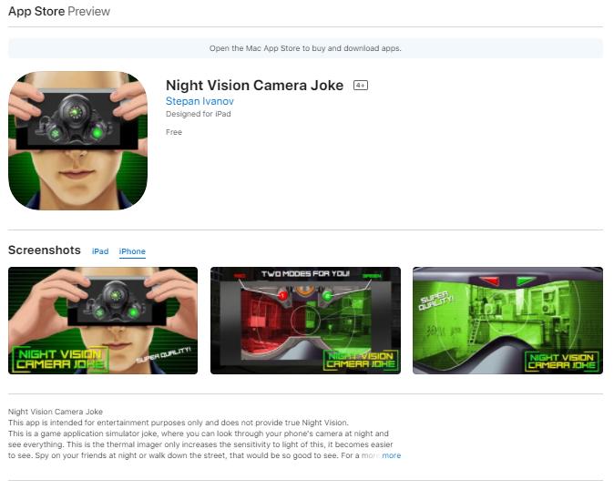 Night Vision Camera Joke
