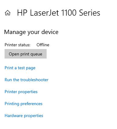 Printer Test - Windows